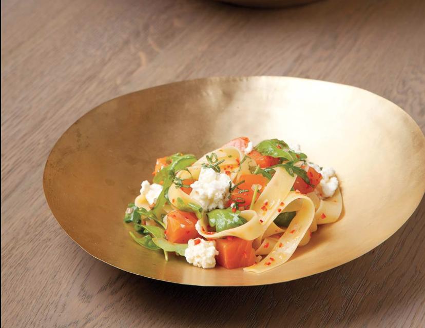 Papardelle aglio, olio & peperoncino met Bawykov® Zalm